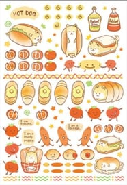 Washi Stickervel Hotdog