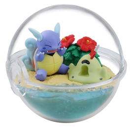 Pokémon Terrarium collectie Four Seasons Wartortle en Sandygast