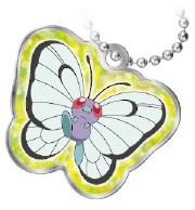 Metalen sleutelhanger Pokémon Tomy Butterfree