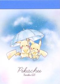 Pokémon Pikachu Regen memoblok