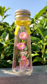 Rilakkuma Flower Bottle Re-Ment Gerbera terrarium