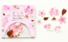 Stickerzakje sakura roze