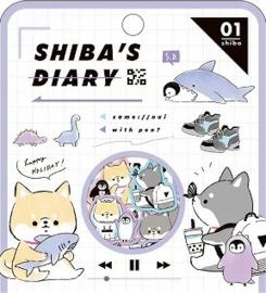 Shiba's diary stickerzakje Kamio Japan