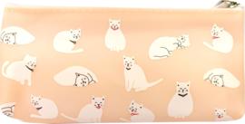 Roze katten etui