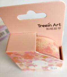 Sakura washi tape kat oranje / roze