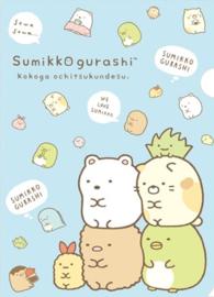 Sumikko Gurashi file folder insteekmap blauw 2