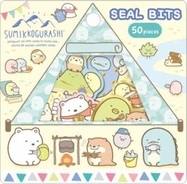 Sumikko Gurashi Seal Bits Camping Geel