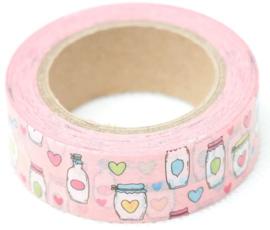 Flesjes en potjes washi tape