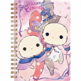 Sentimental Circus Purple Spiral Notebook