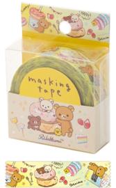 Rilakkuma washi tape geel cake