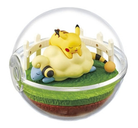 Pokémon Terrarium collectie 4 Pikachu & Mareep