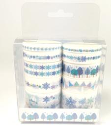 Pakket met 10 blauwe winter washi tape