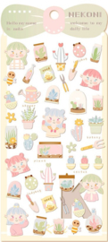 Stickervel Kawaii tuinieren
