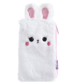 Fluffy konijn etui wit
