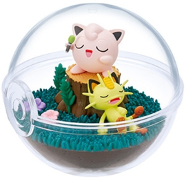 Pokémon Terrarium collectie 9 Jigglypuff & Meowth