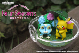 Pokémon Terrarium collectie Four Seasons Pikachu en Froakie