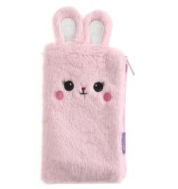 Fluffy konijn etui roze