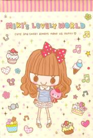 Miki's Sweet Friends Geel memobladen
