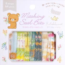 Rilakkuma washi tape stickerstrookjes paars