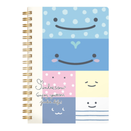 Jinbe-San Spiraal Notebook Happy Faces