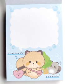 Kokoro Araiguma blauw memoblok