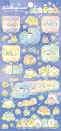 Sumikko Gurashi Starry Sky stickervel blauw