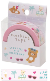 Rilakkuma washi tape summer roze