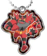Metalen sleutelhanger Pokémon Tomy Incineroar
