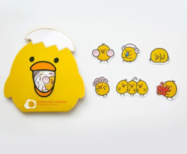 Kawaii chicken stickerzakje