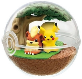 Pokémon Terrarium collectie 7 Pikachu & Growlithe
