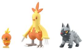 Pokémon Scale World Hoenn Torchic, Combusken en Poochyena