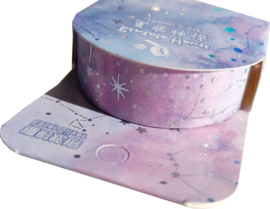 Paarse Galaxy Washi tape