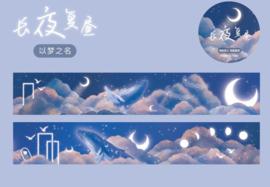 Washi tape nacht en wolken