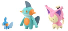 Pokémon Scale World Hoenn Mudkip & Marshtomp & Skitty