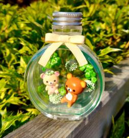 Rilakkuma Flower Bottle Re-Ment Clover terrarium