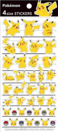Pokémon Pikachu stickervel