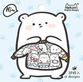 Stickerzakje Nekoni ijsbeer
