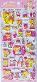 Animal World puffy stickers