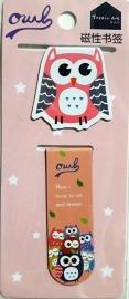 Owl boekenlegger set Roze