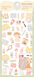 Stickervel kawaii make-up