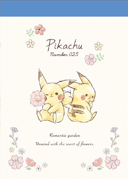 Pikachu Memoblok Romantic Garden klein