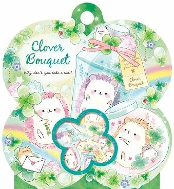 Kamio Japan Clover Bouquet Stickerzakje