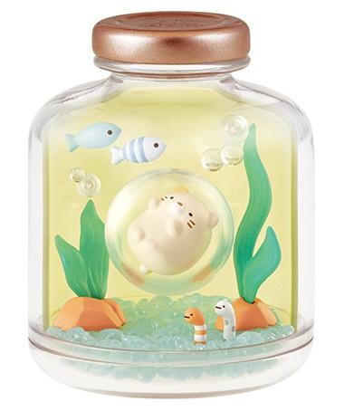 Sumikko Gurashi Marine Bottle Re-ment terrarium Neko