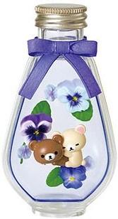 Rilakkuma Flower Bottle Re-Ment Pansy terrarium