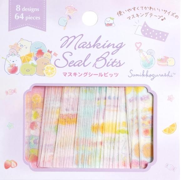 Sumikko Gurashi washi tape stickerstrookjes paars