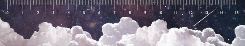 Liniaal Sterren en wolken