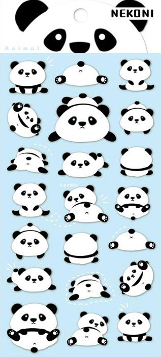 Stickervel Panda