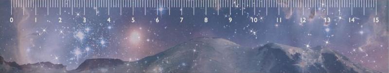 Liniaal sterren en bergen