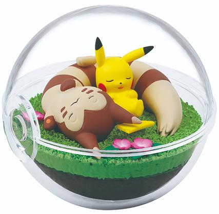 Pokémon Re-Ment Terrarium collectie 8 Pikachu & Furret