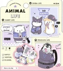 Stickerzakje Animal Life Kamio Japan